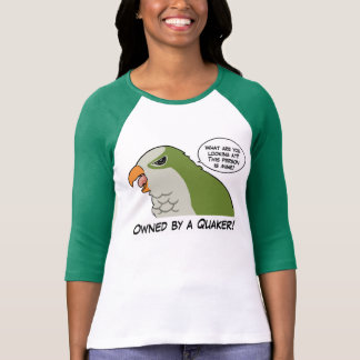 Owned by a green quaker tee shirt