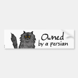 owned by a persian car bumper sticker