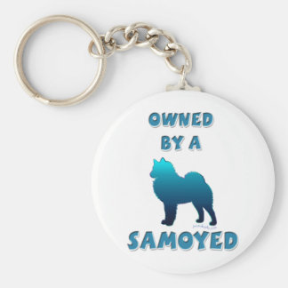 Owned by a Samoyed Keychain
