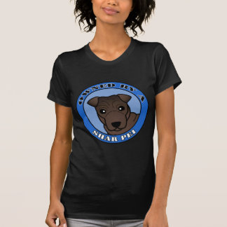 Owned by A Shar Pei - Brown Coat - Blue T-Shirt