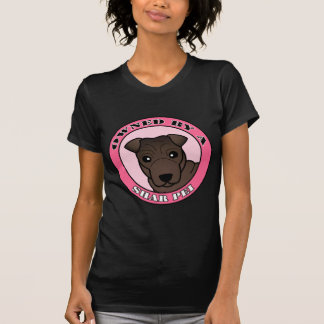 Owned by A Shar Pei - Brown Coat - Pink T-Shirt