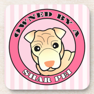 Owned by A Shar Pei - Cream Coat - Pinki Beverage Coaster