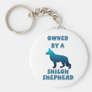 Owned by a Shiloh Shepherd Basic Round Button Keychain
