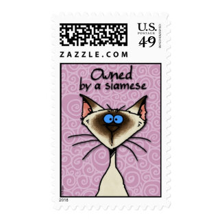 owned by a siamese postage stamp