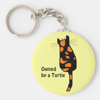 Owned by a Tortie cat keychain