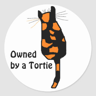 Owned by a Tortie cat stickers