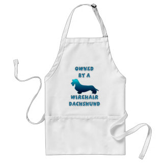 Owned by a Wirehair Dachshund Adult Apron