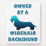 Owned by a Wirehair Dachshund Mousepads