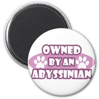 Owned by an Abyssinian 2 Inch Round Magnet