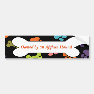Owned By An Afghan Hound or Other Message Bumper Sticker