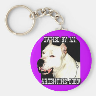 Owned by an Argentine Dogo Key Chain