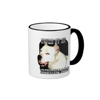 Owned by an Argentine Dogo Ringer Coffee Mug