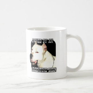 Owned by an Argentine Dogo mug
