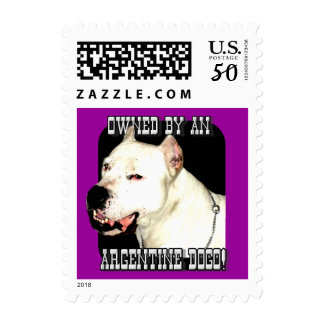 Owned by an Argentine Dogo Postage