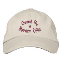 Owned By Border Collie Cute Embroidered Baseball Cap