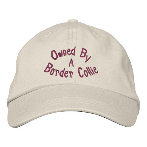 5fb1200666a Owned By Border Collie Cute Embroidered Baseball Cap