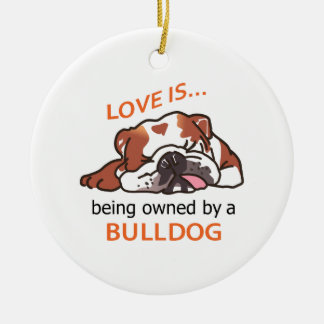 Owned By Bulldog Ceramic Ornament