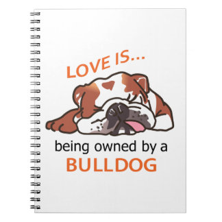 Owned By Bulldog Spiral Notebook