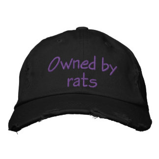 Owned by rats embroidered hat