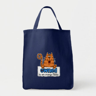 owned orange tabby canvas bags