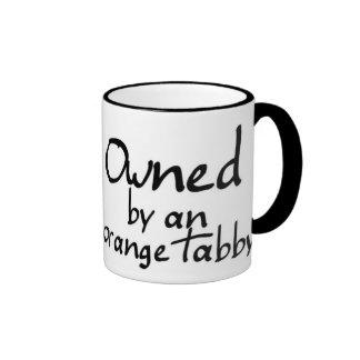 owned orange tabby coffee mugs