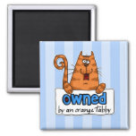 owned orange tabby refrigerator magnets