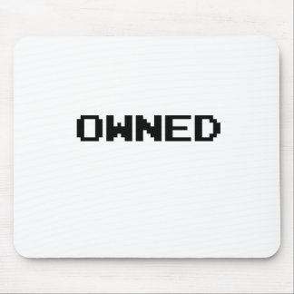 Owned Video Game Font Mouse Pad
