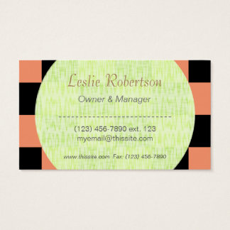 Owner or Employee I/ U-pick Color Black Checkered Business Card