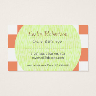 Owner or Employee I/ U-pick Color White Checkered Business Card