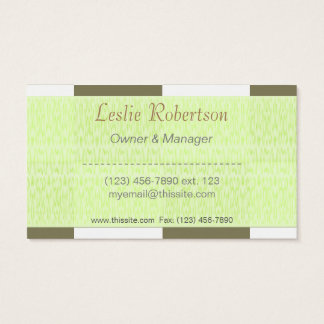 Owner or Employee II/ U-pick Color White Checkered Business Card