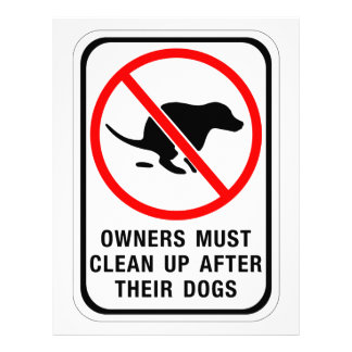 Owners Must Clean Up, Sign, Australia Letterhead Template