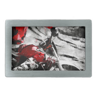 Owning The Mountain  -  Motocross Dirt-Bike Racer Belt Buckle