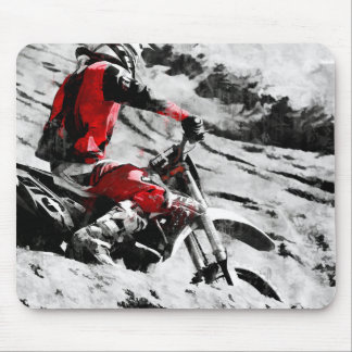 Owning The Mountain  -  Motocross Dirt-Bike Racer Mouse Pad