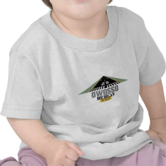 Owosso MI - Airport Runway T Shirts