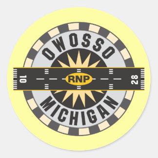 Owosso, MI RNP Airport Classic Round Sticker