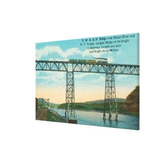 OWR & N Bridge SceneSnake River, ID Canvas Print