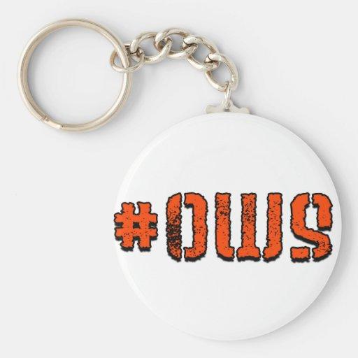 #OWS BASIC ROUND BUTTON KEYCHAIN
