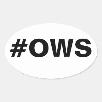 #OWS Occupy Wall Street Oval Sticker