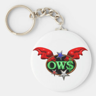 OWS Operation Wall Street Join the movement Keychain