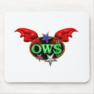 OWS Operation Wall Street Join the movement Mouse Pad