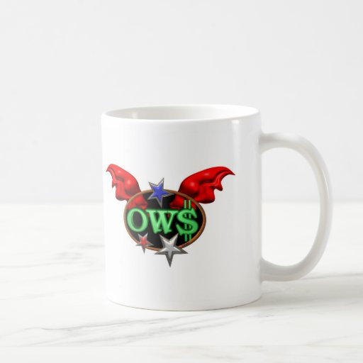 OWS Operation Wall Street Join the movement Mugs