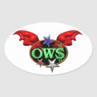 OWS Operation Wall Street Join the movement Oval Sticker