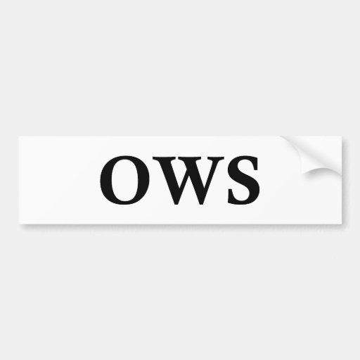 OWS PEGATINA PARA AUTO