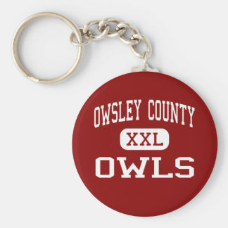 Owsley County - Owls - High - Booneville Kentucky Basic Round Button Keychain