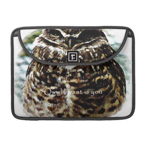 Owwl I quiere es usted madriguera la manga del Funda Macbook Pro