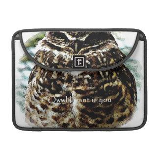 Owwl I want is you burrowing owl macbook sleeve Sleeves For MacBooks