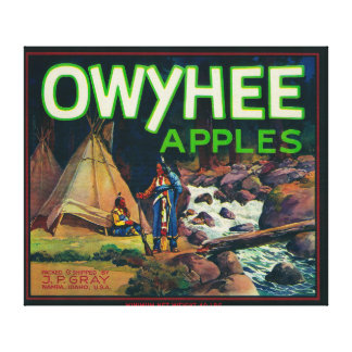 Owyhee Apple Crate LabelNampa, ID Canvas Print