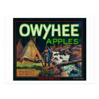 Owyhee Apple Crate LabelNampa, ID Postcard