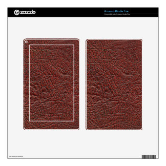 Ox Blood Leather Skin Fine Grain Burnt Red Brown Decal For Kindle Fire