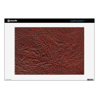Ox Blood Leather Skin Fine Grain Burnt Red Brown Decal For Laptop